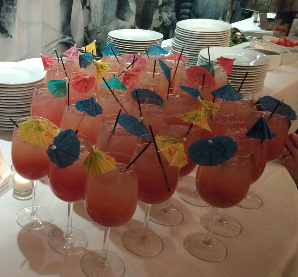 Liquid Lunch Drinks at a Business Lunch with Mini Umbrellas Drinks Lunch Mini Umbrellas Event