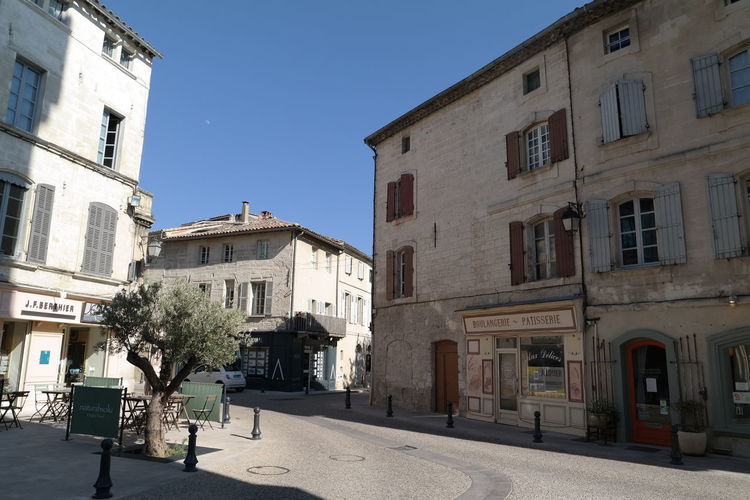 Blue Sky Cityscapes Countryside Historic Old Buildings Olive Tree Perspective Provence Villeneuve-lez-avignon