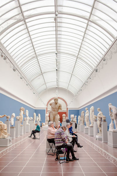 Glyptoteket Travel Destinations Perspective Street Photography Elderly Old Lady Elderly Woman Copenhagen, Denmark Museum Art Museum Sculpture Sketching Artists Art Arts Culture And Entertainment Art is Everywhere Ceiling Indoors  Architecture Chair Pastel Colored Large Group Of People People Modern Day Adventures In The City The Street Photographer - 2018 EyeEm Awards