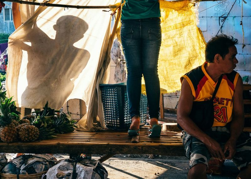 The Pineapple Stall. Streetphotography Eyeem Philippines The Street Photographer - 2015 EyeEm Awards People Light And Shadow Creative Light And Shadow Here Belongs To Me Telling Stories Differently Colour Of Life EyeEm X ICP - Telling Stories Differently