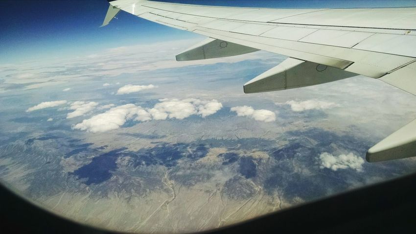 On The Way Flight Wings Aerial View Aerial Shot Flight IPhone Flight Window Fine Art Photography Clouds And Sky Landscape Plane Travel Photography Travel Aeroplane Window View Popular Adventure Club Showcase July Nature Blue Sky A Bird's Eye View Traveling Home For The Holidays