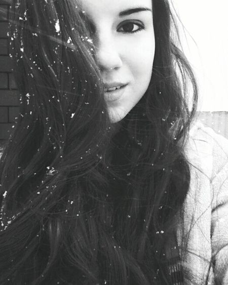 Black&white Snow ❄ Winter Beautiful Day Self Portrait