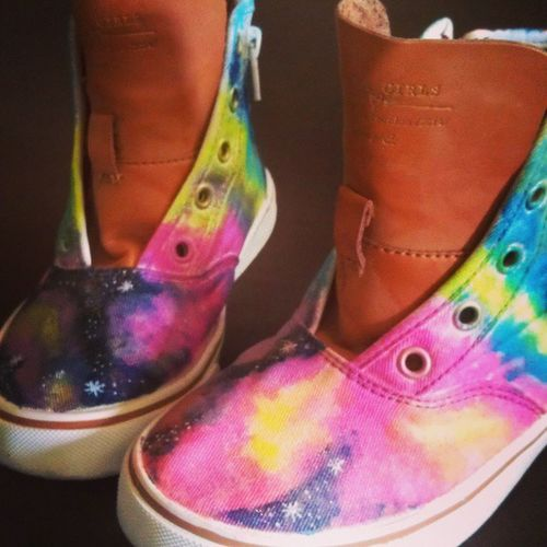 Boring to Amazing! DIYgalaxyshoes 1sttry ZaraGirlsShoe