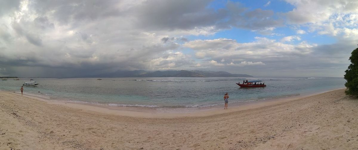 Panoramic view of beach against sky