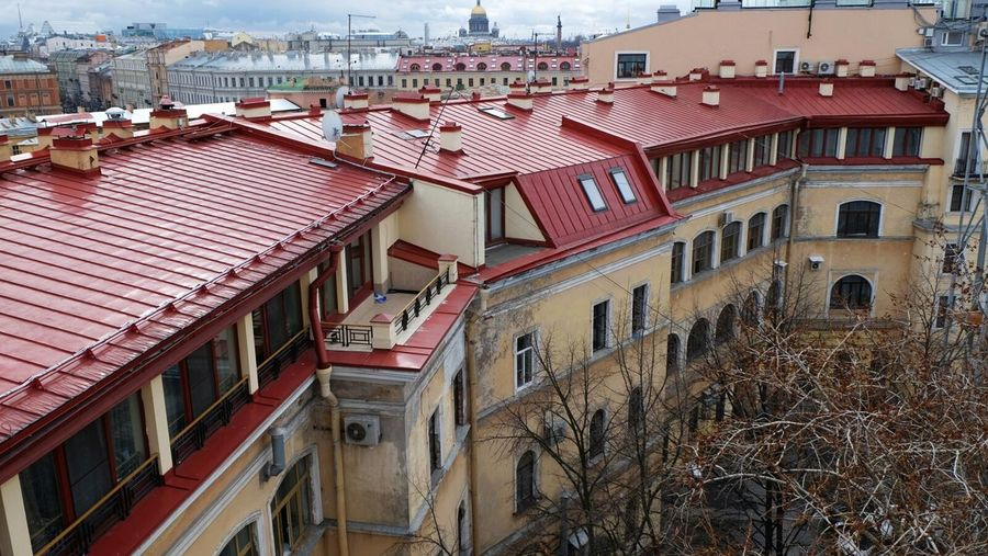 Saint Petersburg Color Photography Walking On Roofs