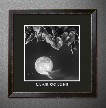 Clair de lune Pearl Moon Moonlight Creative Synthesis Photoshop Black & White EyeEmNewHere