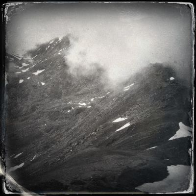 Fog over the mountain peaks The_guido Hipstamatic Blackandwhite