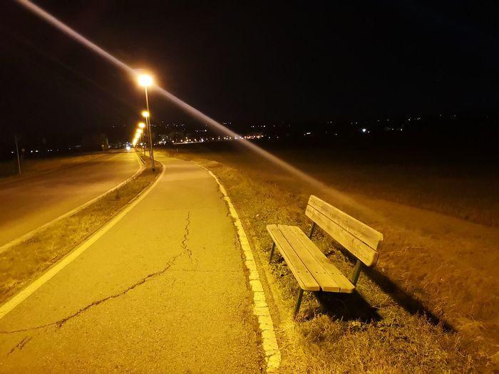 dark walk Night