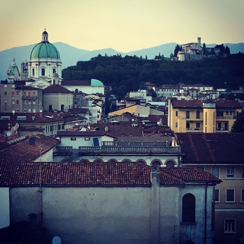Cathedral Brescia View Brescia Rooftop View Castle Architecture Built Structure Building Exterior City Building Dome Place Of Worship Religion Sky No People Cityscape Outdoors Travel Destinations Day Belief Spirituality High Angle View EyeEmNewHere