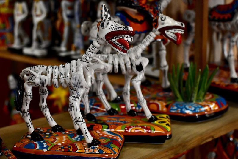 Caballo de los muertos Retail  Marketplace Streetphotography Multi Colored Day Of The Dead Skeleton Horse Representation Art And Craft No People Creativity Craft Sculpture Arts Culture And Entertainment Focus On Foreground Decoration Figurine  Creativity Art And Craft
