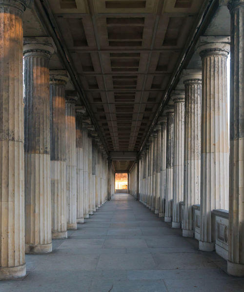 Arcade Architecture Architecture Berlin Photography Berliner Ansichten Built Structure Capital Cities  Colonnade Day Famous Place Indoors  No People Pillars Säulen The Way Forward Transportation Urban Exploration