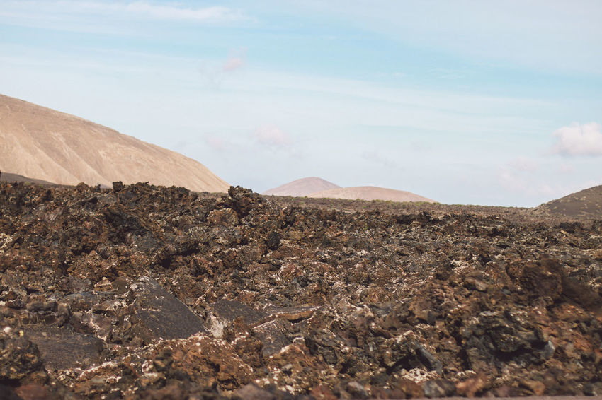 Canary Islands Lanzarote Rock Formation SPAIN Travel Volcanoes Arid Landscape Day Geological Formation Island Landscape Volcanic  Volcano
