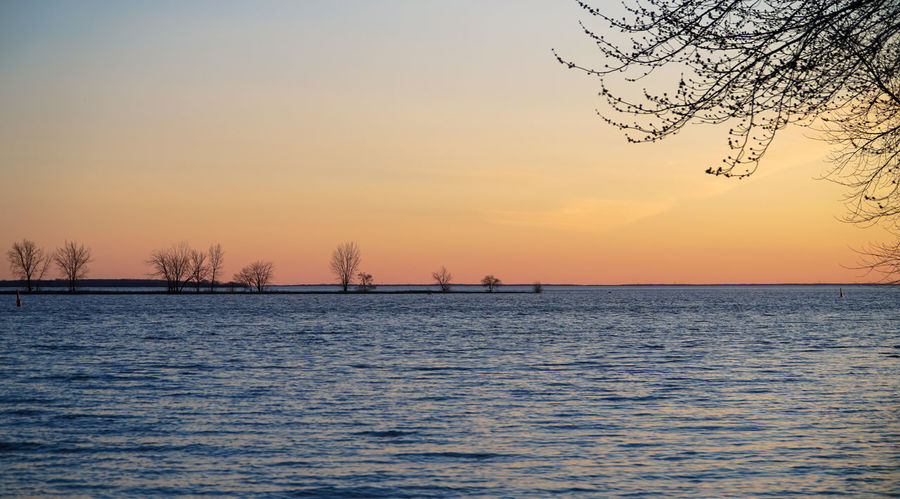 Lachine Lachine Canal Montreal Nature Bare Tree Beauty In Nature Canada Canada Coast To Coast Clear Sky Cold Temperature Day Dusk Horizon Over Water Idyllic Landscape Nature No People Outdoors Park Scenics Sea Sky Sunset Sunset Time Tranquil Scene Tranquility Tree Water Winter