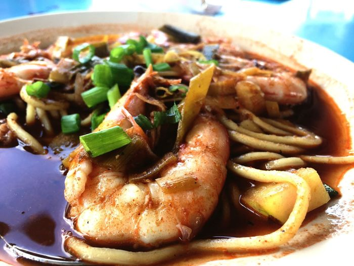 Prawn Mee. Food And Drink Food Meal Prawn Noodles Spicy Food Asian Food Malaysian Food Plate Serving Size Noodle