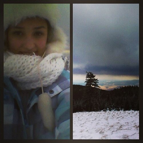 Tired Cold Beautiful View Śnieżnik zdobyty cloudy instagirl Winter Holiday snow everywhere ferie jutro wracamy