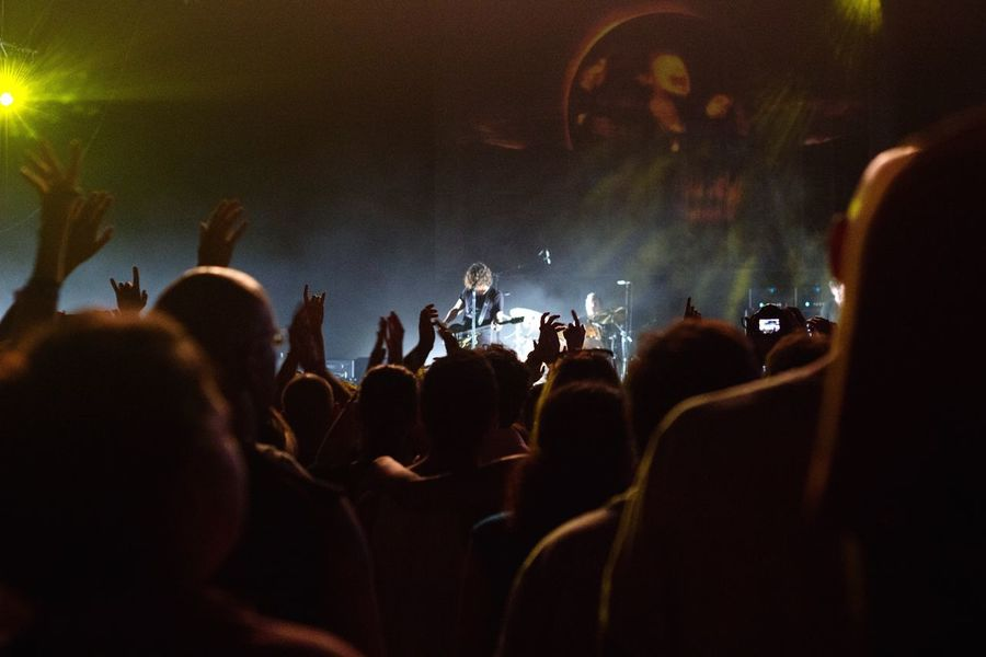Music Brings Us Together Soundgarden Soundgardenconcert Arts Culture And Entertainment Large Group Of People Crowd Illuminated Performance Night Nightlife Person Togetherness Music Event Fun Enjoyment Indoors  Youth Culture Person Spectator Light - Natural Phenomenon Concert Lifestyles