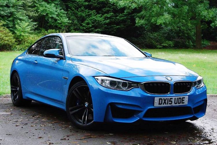 BMW M4 Marina Blue 2017 reg Car Blue Tree Transportation Land Vehicle No People Mode Of Transport Outdoors Day Nature