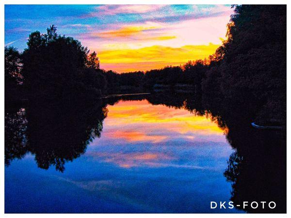 Sweden The True Story Summer Exploratorium EyeEmNewHere Tree Water Multi Colored Sunset Reflection Sky Idyllic