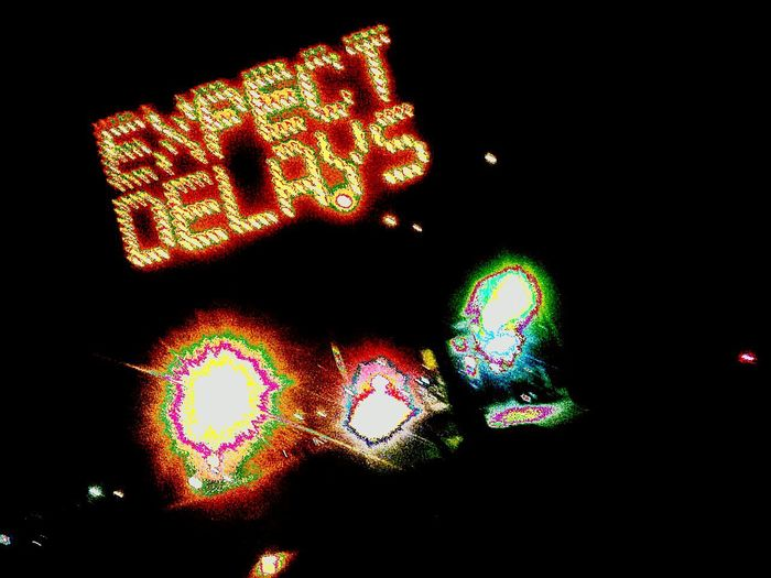 Lights Expect Delays  Road Delays Expecting Caution Constructionporn MotionShot Darkness And Light Caution ⚠️