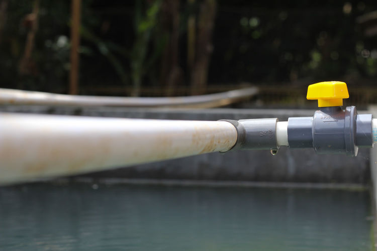 Close-up of yellow pipe