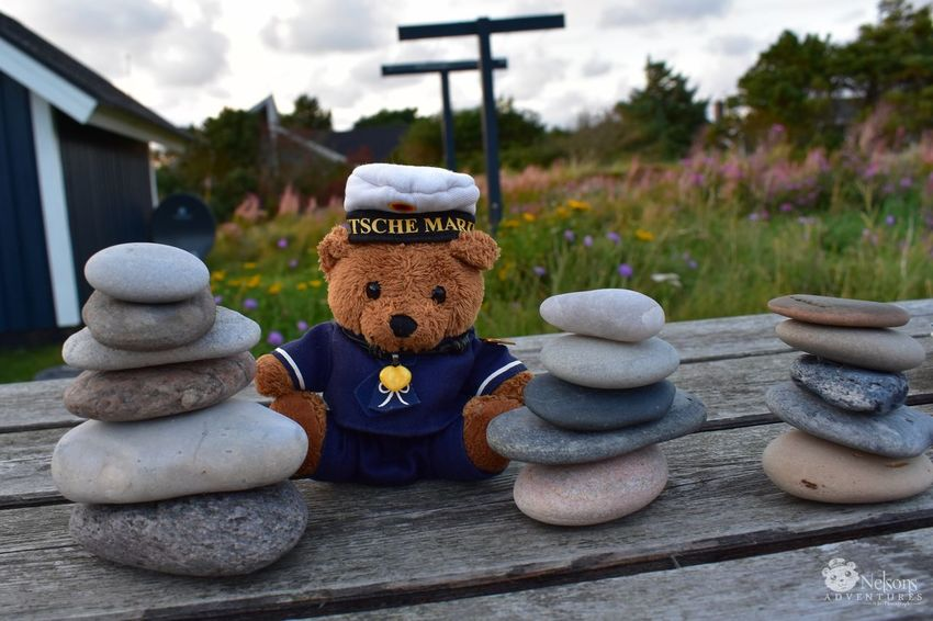 Nelson has stacked some stones. NelsonsAdventures Teddy Bear Teddy Teddybear Stacked Stacked Stones Stones On The Table EyeEm Masterclass EyeEm Nature Lover Denmark Denmark 🇩🇰 Cute Summertime Nikon Hvide Sande Three Stuffed Toy Zen-like Fun Stone Tower Stonesculptures Table Summer Photo Series