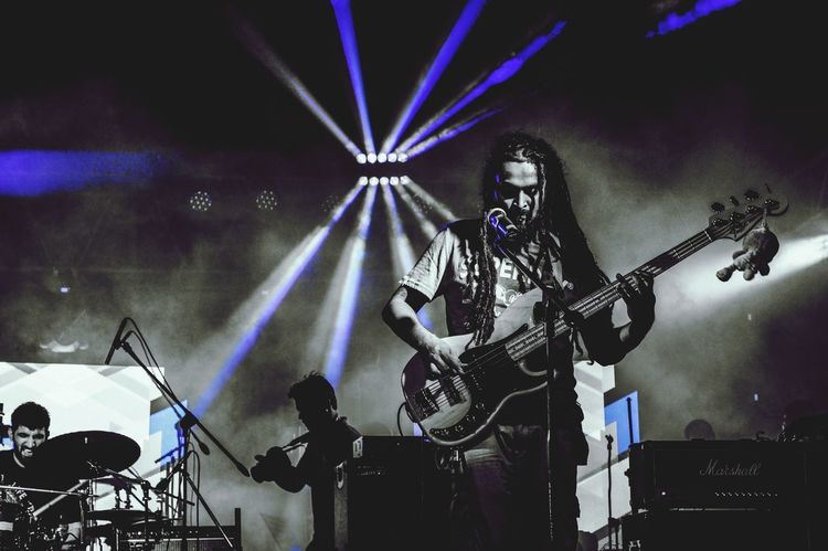 Hit that Bass!! Bass Guitar Harman Live Lights Concert Photography Electronic Music Shots For The Love Of Music