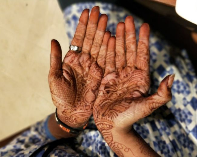 Human Hand Human Body Part Senior Adult One Person People Close-up Adult Day Only Women Outdoors Adults Only Mehendi Art Beautiful Woman Womans Hands
