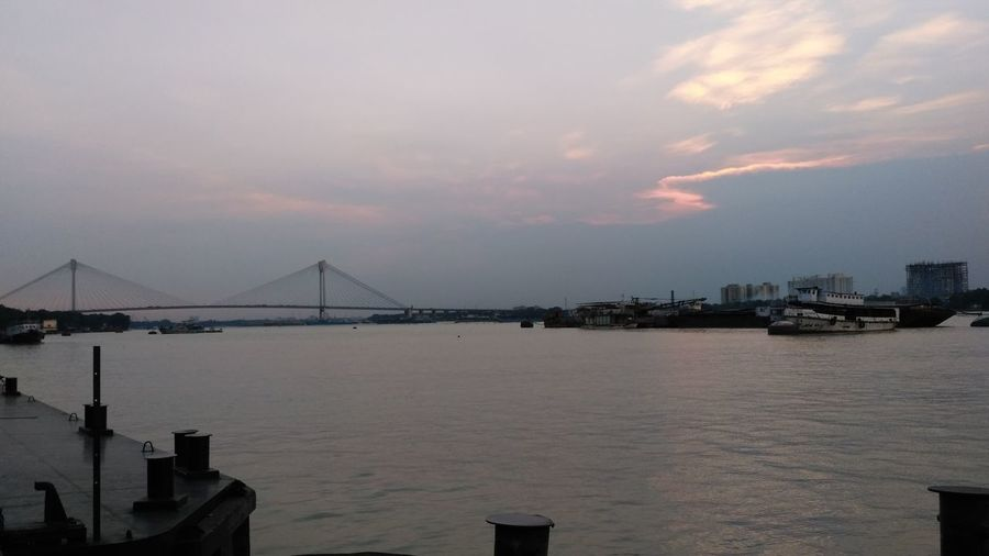 Lost In The Landscape Built Structure Bridge - Man Made Structure Architecture Travel Destinations Cityscape City Tranquility Sea City Life Urban Skyline Steel Outdoors Travel Scenics Awe Sky No People Majestic River Rainbow