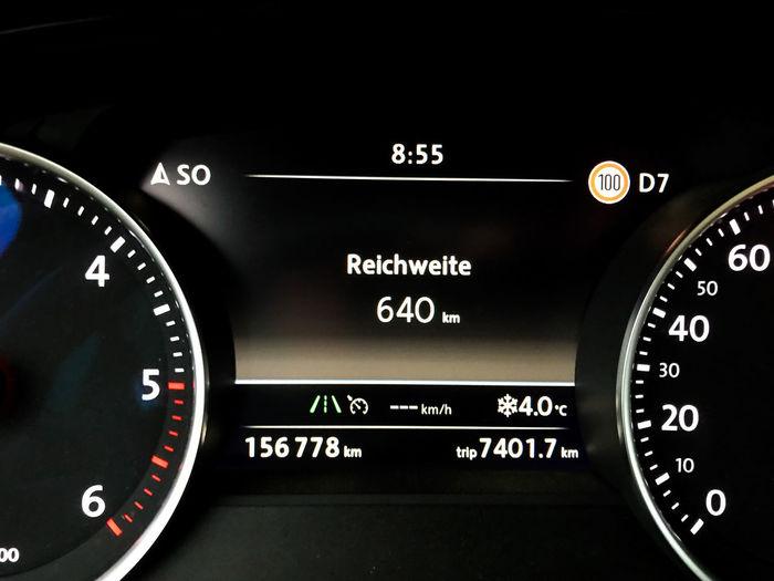 0 640 Fuel Gasoline KilometerZero Dashboard Diesel Gasolinestation Gauge Mile No People Number Out Of Fuel Petrol Petrol Station Reichweite Speedometer Tachometer Tachometer Light Technology Zero