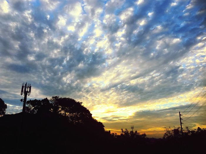 You are my sunshine, my only sunshine... Sunset Cloud - Sky Sky Silhouette Tree Dramatic Sky No People Low Angle View Outdoors Communication Tranquility Nature Day Beauty In Nature Scenics Technology