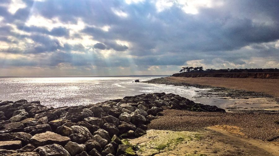 ENGLAND Sky Water Cloud - Sky Beach Sea Scenics - Nature Tranquility Land Beauty In Nature Nature Rock Solid Horizon Tranquil Scene No People Idyllic Horizon Over Water The Great Outdoors - 2018 EyeEm Awards