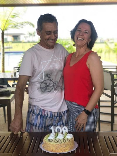 Cake Time Cake Happy Birthday! Happy People Happy Happiness In Love Happiness Smiling Two People Food And Drink Emotion Food Adult Togetherness Couple - Relationship Positive Emotion Cheerful Standing Love