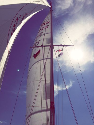 Sailing Sail Sailing Ship Flag Sky Low Angle View Mast Day Cloud - Sky No People Outdoors Nautical Vessel Nature Let's Go. Together. Let's Go. Together. Sommergefühle