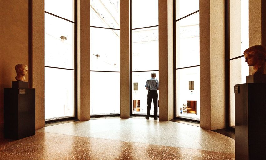 Berlin Museum Indoors  Window One Person Door Architecture Standing Day Men People Adults Only Looking Through Window Architectural Column Real People One Man Only Built Structure Adult monument first eyeem photo EyeEmNewHere