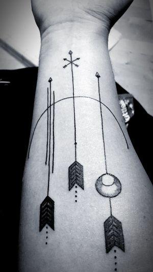 Ink Close-up arrows