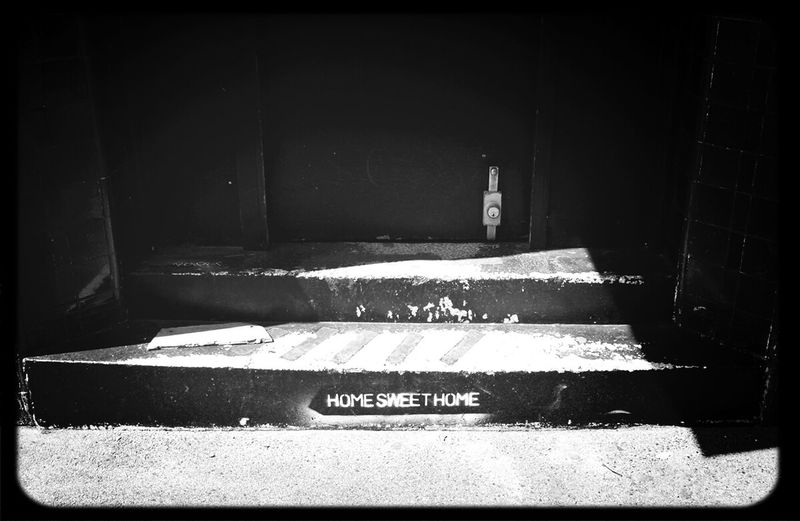 Home Sweet Home Stencil on the front step of the Pub in Collingwood