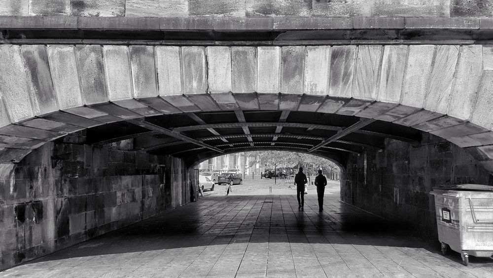 Arch Architecture Built Structure People Day Two People Real People Streetphotography Tyne Bridge Rivertyne Newcastle Upon Tyne City Bridge - Man Made Structure Outdoors Blackandwhite