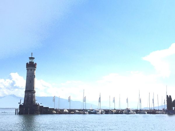 Water Lighthouse Sky Architecture Waterfront Sea Harbor Bodensee Bodenseeregion Deutschland Germany GERMANY🇩🇪DEUTSCHERLAND@ Maritime Boats Sailing Nice Day Nice Atmosphere Day Boats⛵️