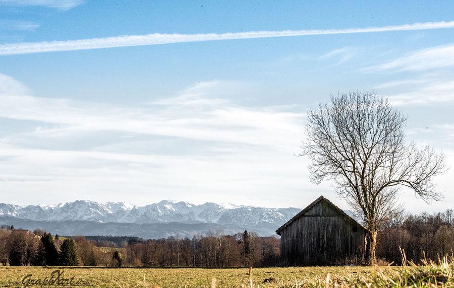 Austria Austria ❤ Nature Nature Photography View Architecture Bluesky Building Cloud - Sky Cottage Field Graphxart Land Landscape Outdoors Sky Tree