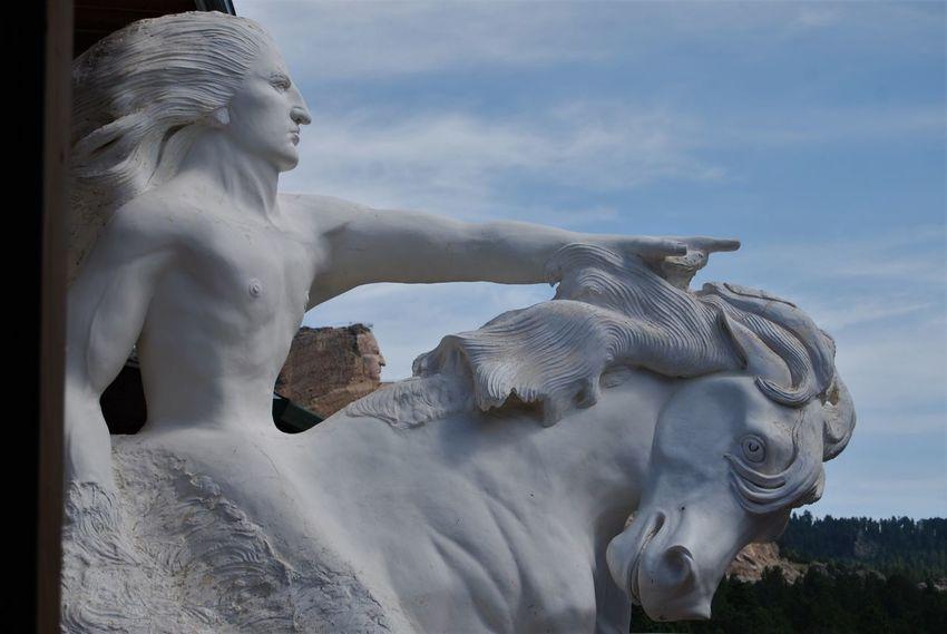 Art And Craft Crazy Horse Crazy Horse Memorial Crazy Horse. Creativity Day Human Representation Male Likeness No People Outdoors Sculpture Sky South Dakota Spirituality Statue The Great Outdoors - 2017 EyeEm Awards