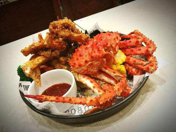 Food And Drink Food Freshness seafood kingcrab Celebration Temptation Plate Savory Food Bowl Ready-to-eat No People Deep Fried  Indoors  Comfort Food Day