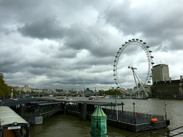 the London Eye looks nice even under the rain Clouds And Sky Rainy Days Check This Out Hanging Out London Calling EyeEm Best Shots Urban Landscape The Traveler - 2015 EyeEm Awards Cityscapes Seeing The Sights London Lifestyle EyeEm LOST IN London Postcode Postcards
