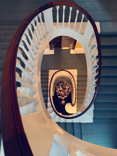 The Week on EyeEm ShotOnIphone EyeEm Selects Spiral Spiral Staircase Staircase Railing Built Structure Steps And Staircases Architecture Indoors  No People Pattern Day Geometric Shape Building Circle Directly Above