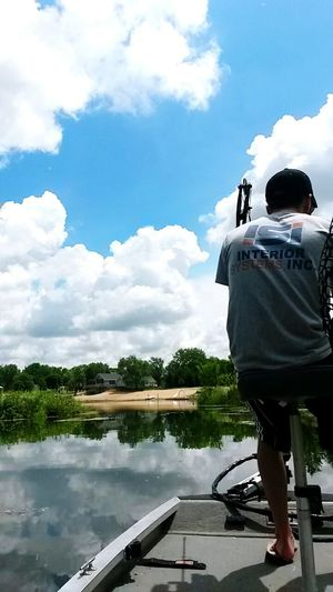 Lake Fishing Bowfishing Clouds Sky Relaxing Beautiful Moments