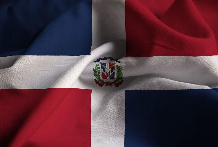 Full frame shot of dominican republic flag