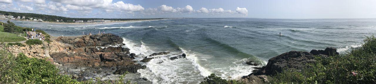 Maine Marginal Way Ogunquit Beach Motion Outdoors Panoramic Photography Rock Scenics - Nature Sea Sky Water Wave