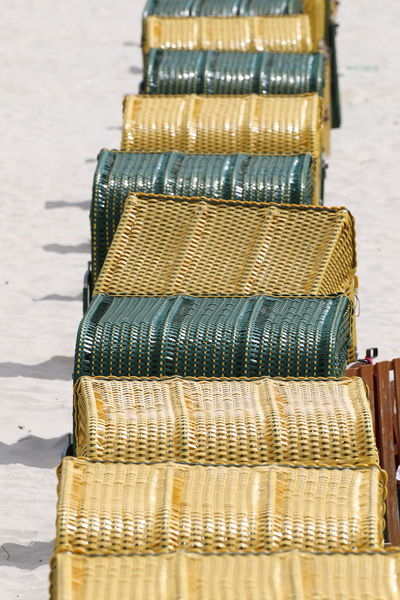 Relaxing Beach Chairs Close-up Day Gold Colored Large Group Of Objects Leisure Activity No People Outdoors Summer Sunny Day