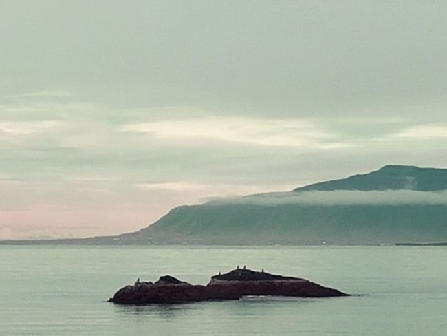 Mountain Sea Landscape Outdoors Nature Scenics No People Horizon Over Water Travel Destinations Pastel Colored Beauty In Nature Water Sky Colour Your Horizn Colour Your Horizn