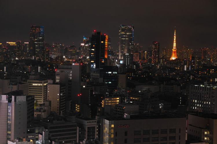 Japan Tokyo Sibuya High Angle View Building Exterior The Night View Sigma Dp3merrill