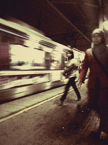 Streetphotography Rush Hour The Last Train Indonesia_allshots